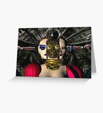 ANDROID XENIA SPACESHIP PILOT  / Sci -Fi Greeting Card