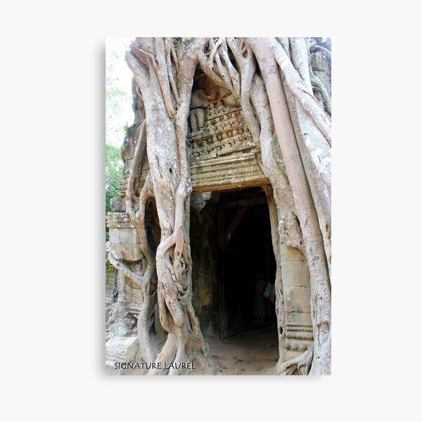 Banyan Doorway in Angkor Canvas Print