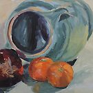 Red Onion, Jug and Clementines by Juliane Porter