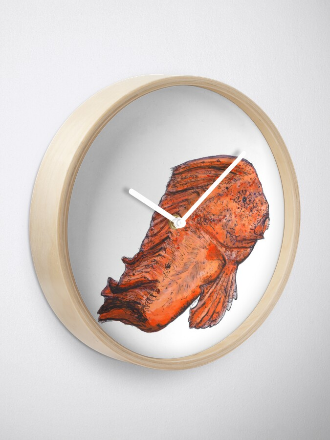 Alternate view of Donald the Red Indian Fish Clock
