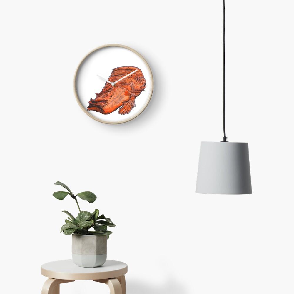 Donald the Red Indian Fish Clock
