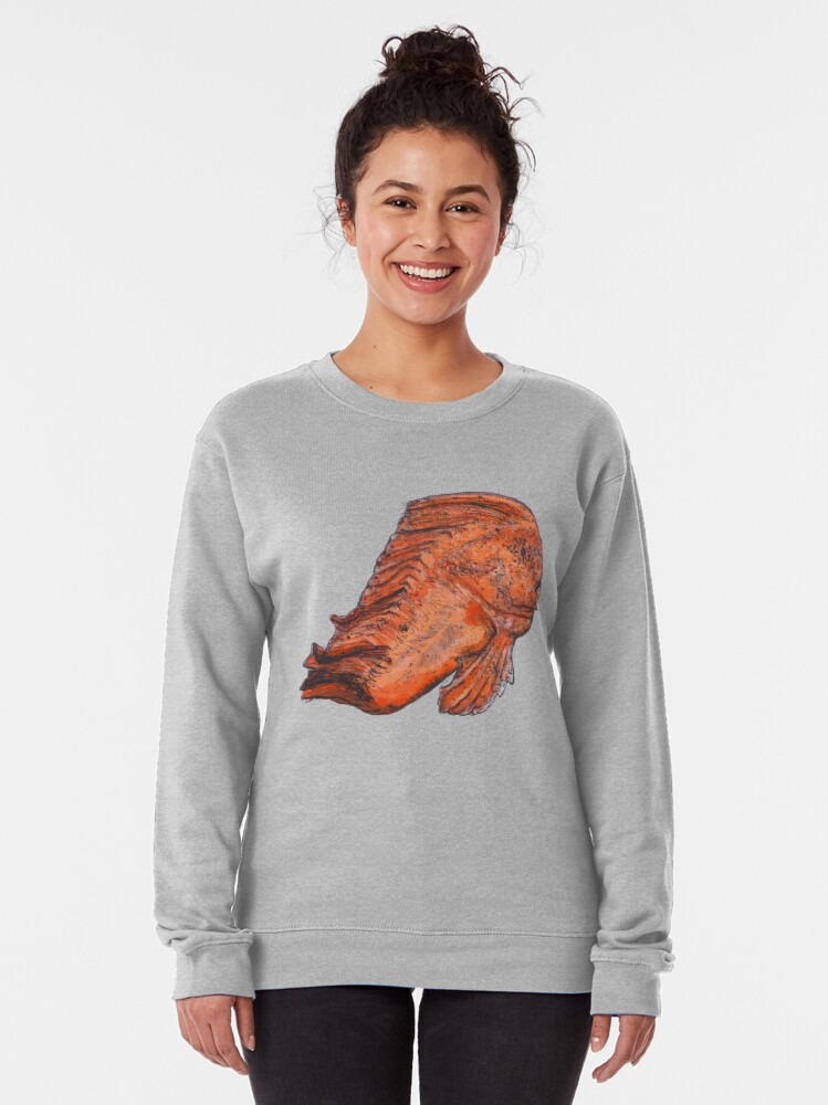 Alternate view of Donald the Red Indian Fish Pullover Sweatshirt