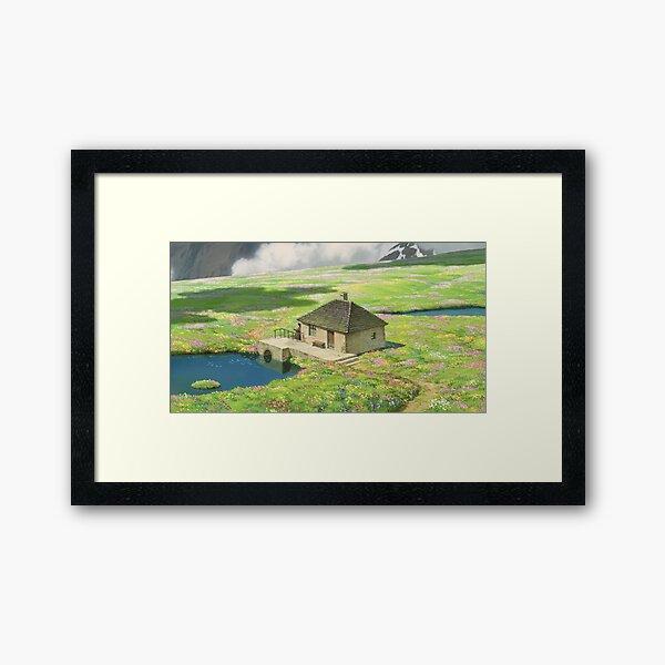 Howls Cottagecore Scene Framed Art Print