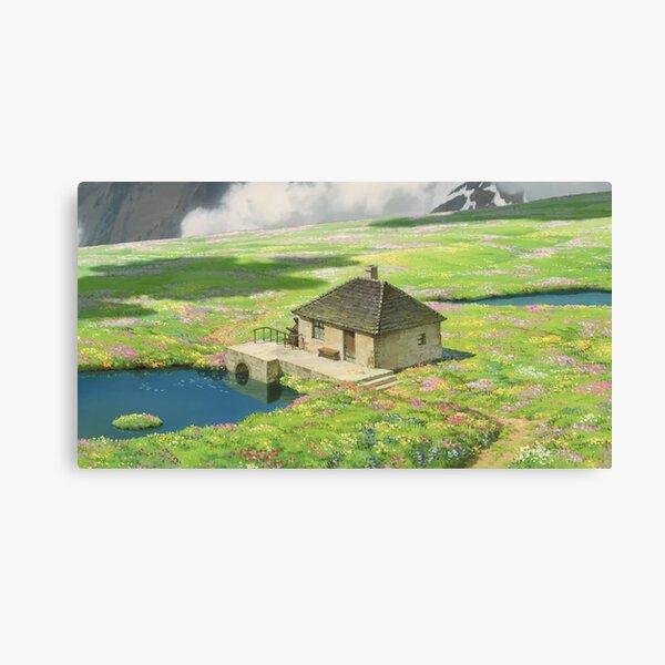 Scène Howls Cottagecore Impression sur toile