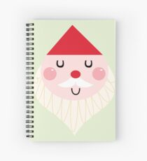 Adorable christmas Santa with Red Hat Spiral Notebook