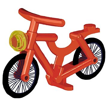 Lego Bicycle Red by katecrashed
