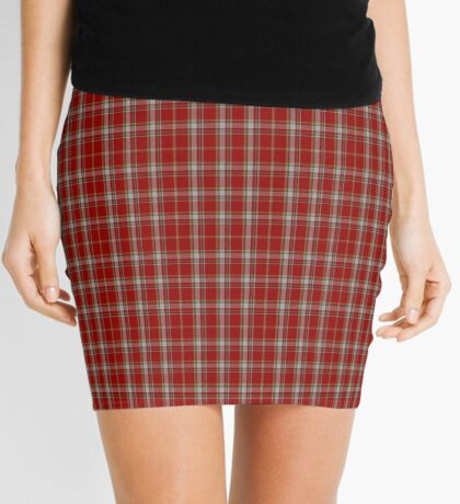 00180 Manx Laxey, Red (District) Tartan Mini Skirt