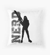 Nerd woman Throw Pillow