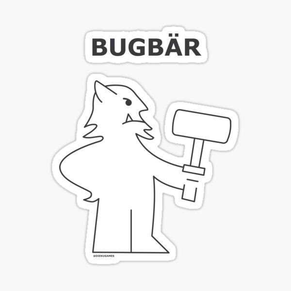 Dungeons and Dragons Bugbear from IKEA Sticker
