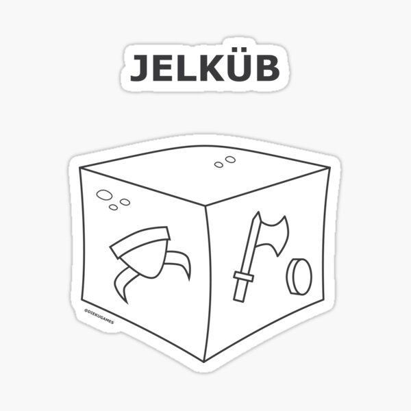 Dungeons and Dragons Gelatinous Cube from IKEA Sticker