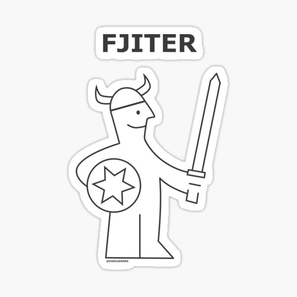 Dungeons and Dragons Fighter from IKEA Sticker