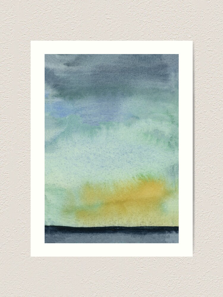 Abstract Landscape Original Watercolor Painting