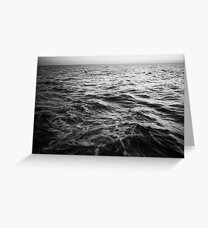 in the middle of the sea Greeting Card