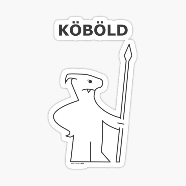 Dungeons and Dragons Kobold from IKEA Sticker