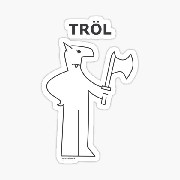 Dungeons and Dragons Troll from IKEA Sticker