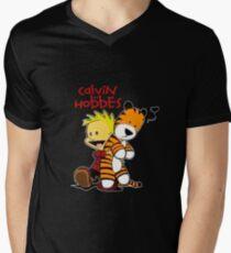 Calvin And doll hobbes Mens V-Neck T-Shirt