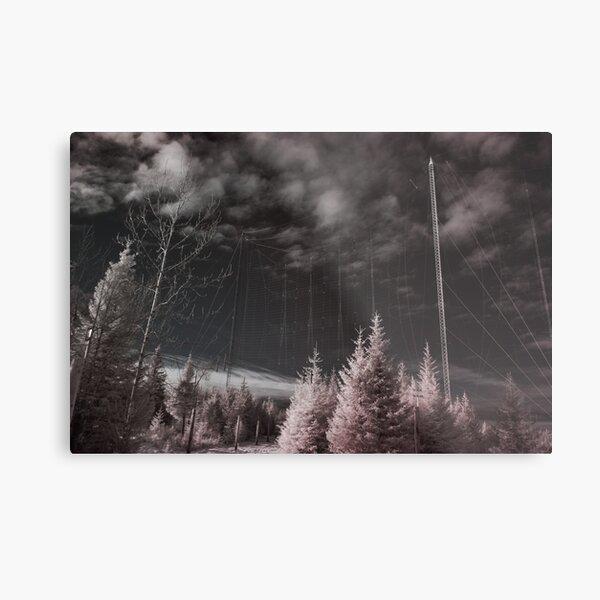 Alaskan Radio, Infrared Metal Print
