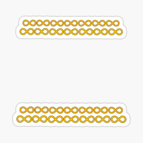 Orange bracelets Sticker