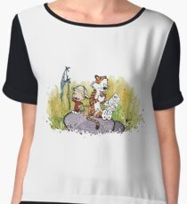 Calvin And Hobbes mapping Chiffon Top