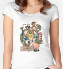 Nanatsu no Taizai Women's Fitted Scoop T-Shirt