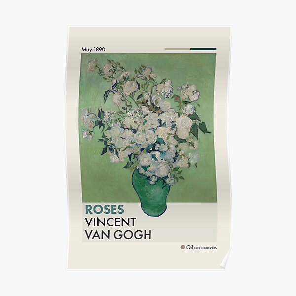 Mid-Century Van Gogh Roses Poster