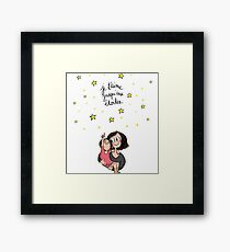 I love you mom  Framed Print