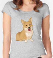 Cute smiling corgi Women's Fitted Scoop T-Shirt