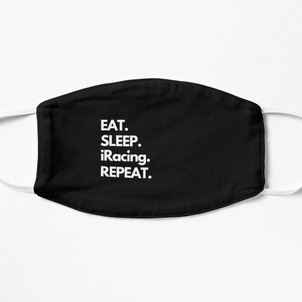 Eat Sleep iRacing Repeat Flat Mask