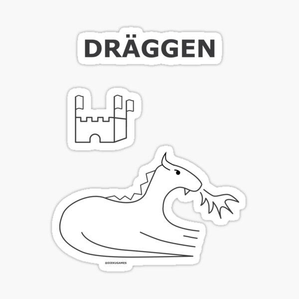 Dungeon Keep and Dragon from IKEA Sticker