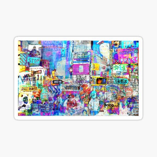 Times Square V Sticker