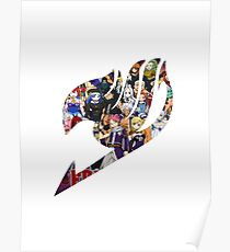 Fairy Tail GMG Characters Logo Poster