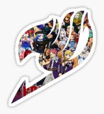 Fairy Tail GMG Characters Logo Sticker