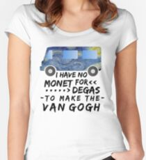 Funny Artist Pun Monet Degas Van Gogh Women's Fitted Scoop T-Shirt