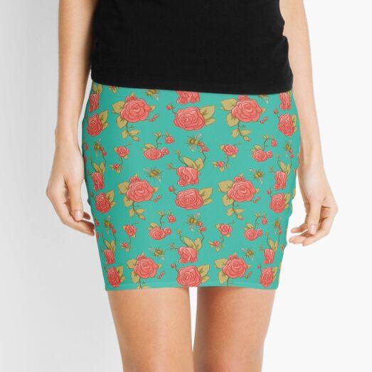 Bees & Roses Mini Skirt