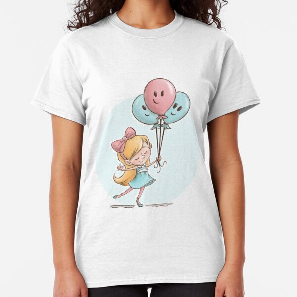 Girl with Balloons Classic T-Shirt