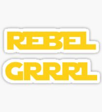 REBEL GIRL GRRRL PRINCESS LEIA STAR WARS Sticker