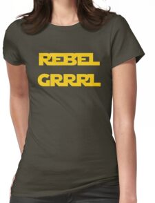 REBEL GIRL GRRRL PRINCESS LEIA STAR WARS Womens Fitted T-Shirt