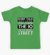 Sherlock - Don't Talk Out Loud... Kids Tee