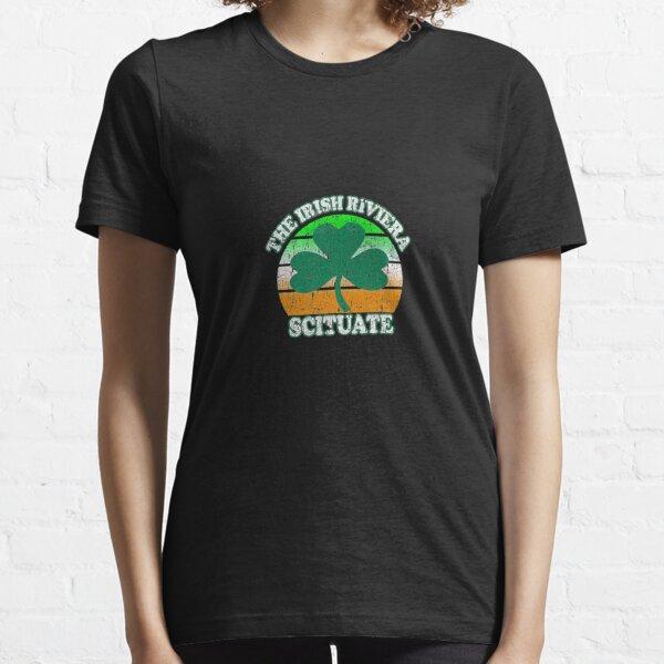 Scituate MA Irish Riviera Massachusetts T Shirt Shamrock Essential T-Shirt