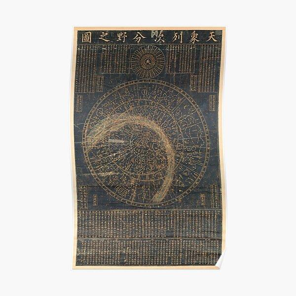 14th Century Korean Star Map Poster