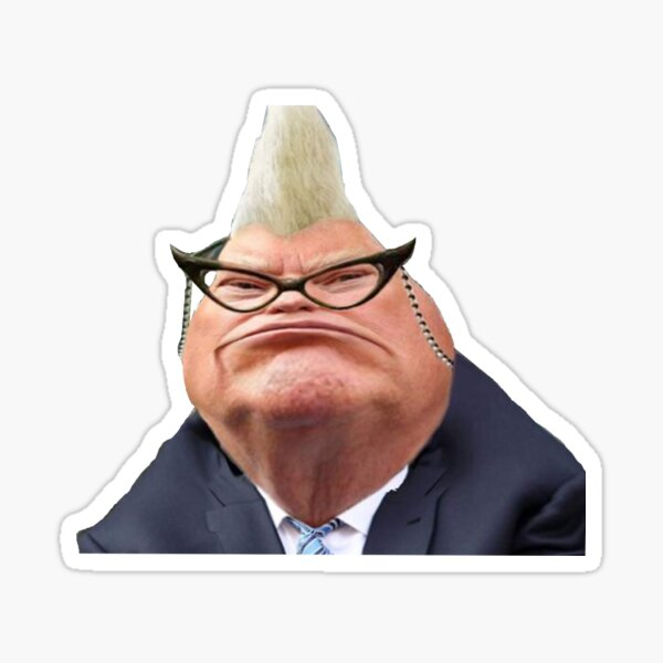 Donald Trump as Roz from Monsters Inc 2016 Sticker