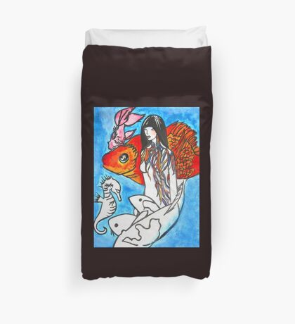 The Sea King's Daughter Duvet Cover