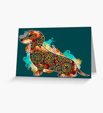 Bohemian Dachshund Greeting Card
