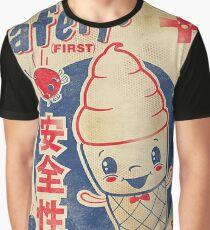 Camiseta gráfica AD japonés retro