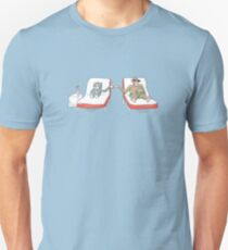 Monkey and Tuxedo Cat by the Pool T-Shirt