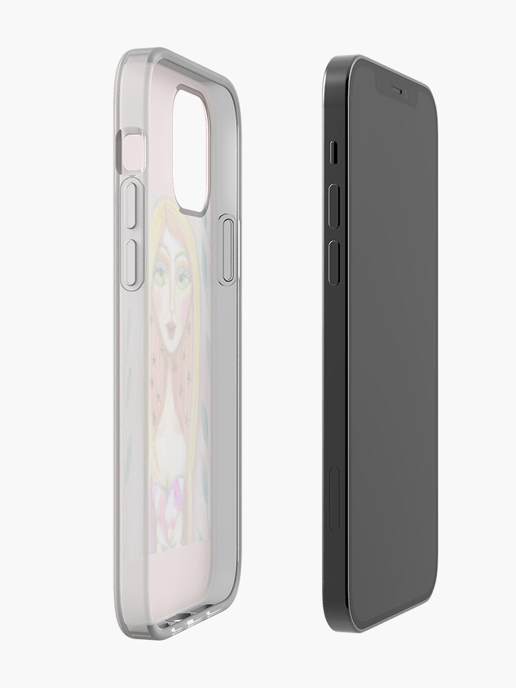 Alternate view of Pink Star Blonde Girl, Meloearth Art, Portrait Pretty Woman, Green Eyes  iPhone Case & Cover