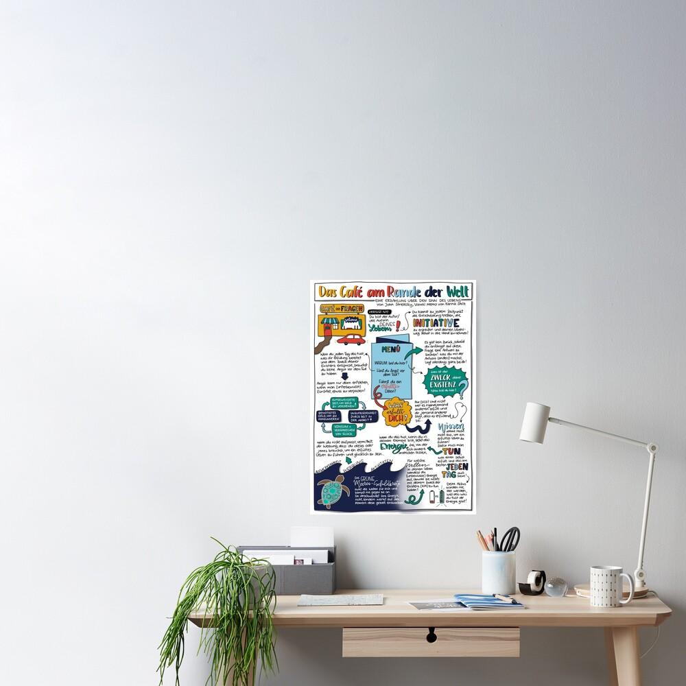 """Visual Memo: """"Das Café am Rande der Welt"""" Poster"""