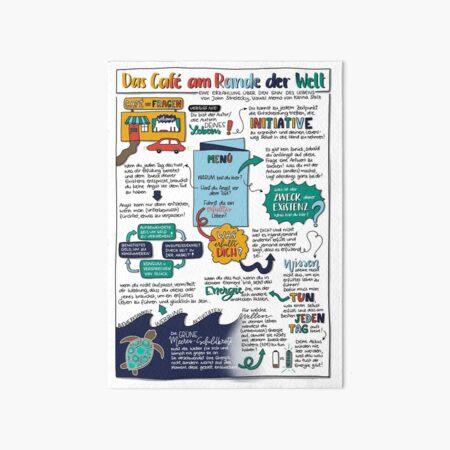 "Visual Memo: ""The Café on the Edge of the World"" Art Board Print"