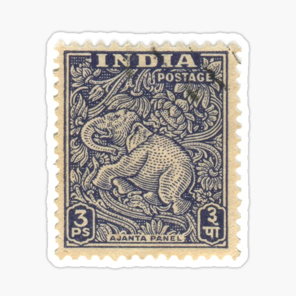 Stamp - India - Elephant - 3Ps Sticker