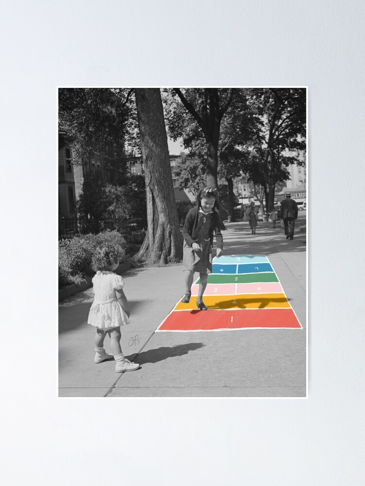 Alternate view of Hopscotch Poster